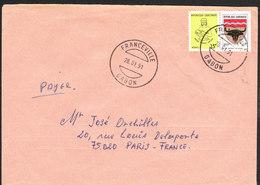 GABON Lettre  De FRANCEVILLE 28 Janv 1991 Via Paris - Gabon (1960-...)