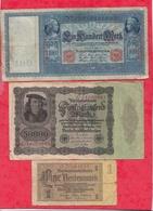 Allemagne 20 Billets Dans L 'état Voir Scan Lot N °1 - Monnaies & Billets