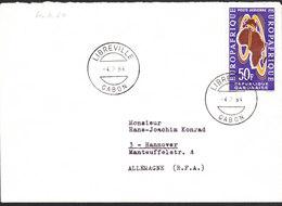 GABON Lettre  De LIBREVILLE Du 4 Fevr 1964 Via Hanovre Allemagne - Gabon (1960-...)