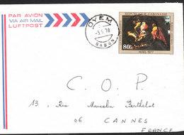 GABON Lettre  De OYEM Du 3 Mai 1978 Via Cannes (tableau De Rubens) - Gabon (1960-...)