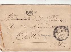 LETTRE.   9 JUIN 68.   ISERE   T22 LES AVENIERES.   ORIGINE RURALE.   OR   SANS TIMBRE  / 221 - Marcophilie (Lettres)