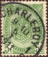 "COB   56  (o) Oblitération ""Charleroy 1 C""  T4R - 1893-1907 Armoiries"