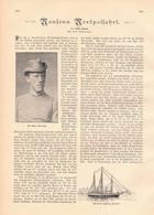 190 Nansens Nordpolfahrt 1 Artikel Mit 6 Bildern Von 1897 !! - Historische Dokumente