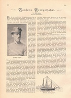 190 Nansens Nordpolfahrt 1 Artikel Mit 6 Bildern Von 1897 !! - Revues & Journaux