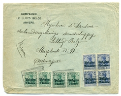 Belgique - Occupation 1914-1918 - 2 Paires De OC2 Et Bloc De 4 OC4 Sur Lettre D'Antwerpen - 3 Sep 1916 - Guerre 14-18