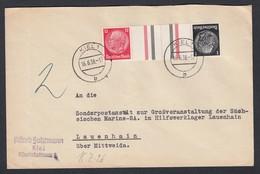Deutsches Reich Brief 1938 Kiel Lauenhain Zusammendruck KZ24 Lot 149D - Deutschland