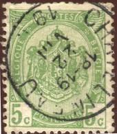 """COB   83  (o) Oblitération """"Châtelineau""""  T1L - 1893-1907 Armoiries"""
