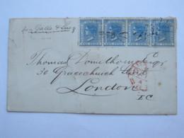 1874 , 2 Cent Viktoria , 4 Mal Auf Brief Mit Nr. Stempel  73  Nach London - 1850-1906 New South Wales