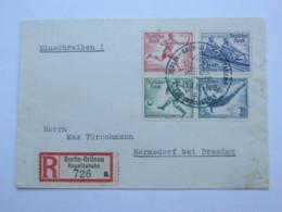 1936 , Olympiade , Einschreiben Mit Zusammendruck Und Sonder - R - Zettel - Deutschland