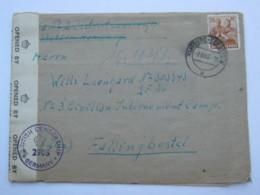 1947 , Internierten Lager Fallingbostel , Brief Aus Hamburg Mit Zensur - Gemeinschaftsausgaben