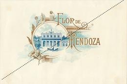 1893-1894 Grande étiquette Boite à Cigare Havane FLOR DE MENDOZA - Etichette