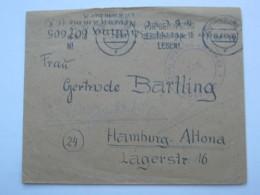 1947 , Internierten Lager Neuengamme  , Brief Aus Hamburg Mit Lager - Zensur - Gemeinschaftsausgaben