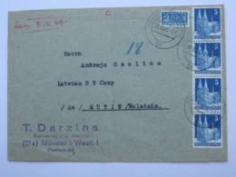 1947 , Internierten Lager Eutin ( Lettisches Lager  , Brief Aus Münster - Gemeinschaftsausgaben