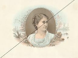 1893-1894 Grande étiquette Boite à Cigare Havane FLOR DE MENDOZA - Etiquettes