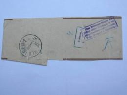 1897 , 3 Pfg. Streifband Mit Suchstempel Und Aufkleber  Aus Hamburg - Bayern