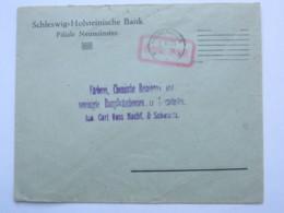 1923 , NEUMÜNSTER ,   Gebühr Bezahlt , Seltener Stempel Auf Brief, Oben Etwas Rauh Geöffnet - Deutschland