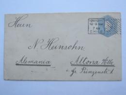 1901 , 10 C. Ganzsache Nach Deutschland Verschickt - Chile