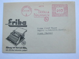 1935 , DRESDEN - Schreibmaschine  , Firmen Freistempel  Auf Brief - Deutschland