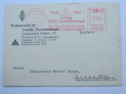 1938  , DRESDEN -  HJ  , Firmen Freistempel  Auf Karte - Deutschland