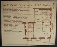 """DH. 106.Nice. Ancien Plan D'un Appartement De Luxe """"Le Riviera Palace"""" - Historical Documents"""