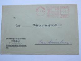 1937 , DÜSSELDORF - Ausstellung  Schaffendes Volk  , Firmen Freistempel  Auf Brief - Deutschland
