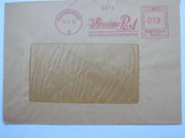 1934 , DÜSSELDORF - Braune Post , Firmen Freistempel  Auf Brief - Deutschland