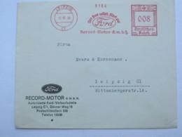 1938 , LEIPZIG - FORD  PKW , KFZ  , Firmen Freistempel  Auf Brief - Deutschland