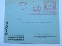 1934 , HANNOVER -  Radio , Firmen Freistempel  Auf Brief, Dreiseitig Geöffnet - Deutschland