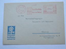 1945 (März) , MÜNCHEN   -. Brauerei  , Firmen Freistempel  Auf Brief - Deutschland
