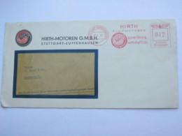 1939 , Stuttgart  - Flugmotoren , Firmen Freistempel  Auf Brief - Deutschland