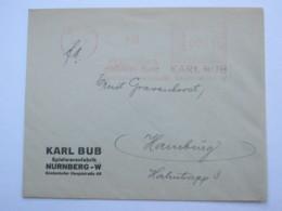 1934 , NÜRNBERG -  Spielzeug Eisenbahn  , Firmen Freistempel  Auf Brief - Deutschland