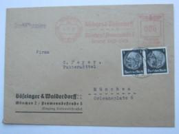 1942 ,  MÜNCHEN  Firmen Freistempel  Auf Brief Mit Markenfrankatur - Deutschland