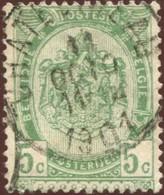 "COB   56  (o) Oblitération ""Châtelineau""  T2R - 1893-1907 Armoiries"