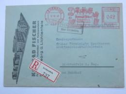 1940 , NEUENSORG  über Lichtenfels Firmen Freistempel  Auf Brief Als Einschreiben - Deutschland