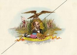 1893-1894 Grande étiquette Boite à Cigare Havane MARENGO - Etichette