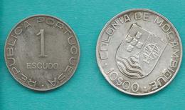 Mozambique - Portuguese Colony - 1 & 10 Escudos - 1936 (KMs 66 & 67) - Mozambique