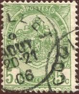 """COB   56  (o) Oblitération """"Couillet""""  T1L - 1893-1907 Armoiries"""