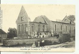 Familleureux Ruines De L' Antique Eglise De Familleureux Incendiée Par La Foudre Le 30 Juin 1902. - Manage