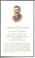 Souvenir De Félicien Mary Né Le 10 Avril 1882 à Hurbache Décédé Le 9 Mars 1945 à Clairefontaine. - Religion & Esotericism