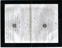 Comte Henri De Meeûs 1826 Et Dame Amélie Baronne De Potesta De Waleffes Née 1832 à Huy - Overlijden