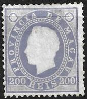 Macao Macau – 1887 King Luiz 200 Réis - Macao