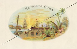 1893-1894 Grande étiquette Boite à Cigare Havane - Etiquettes