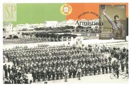 1st World War WW1 Portugal Postal Máximo Armistício Grande Guerra 1918 2018 Maximum Maxicard Erster Weltkrieg Armistice - Cartes-maximum (CM)