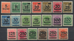 Impero Tedesco 1923 Mi. 277-296 Nuovo ** 100% Soprastampato - Germania