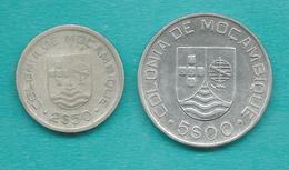 Mozambique - Portuguese Colony -  2½ & 5 Escudos - 1935 (KMs 65 & 62) - Mozambique