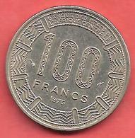 100 Francs , CONGO , Nickel , 1975 , N° KM # 2 - Congo (République Démocratique 1998)