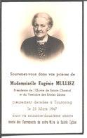Souvenir Eugénie Mulliez Décédée Le 23 Mars 1947 à Tourcoing. - Religion & Esotericism