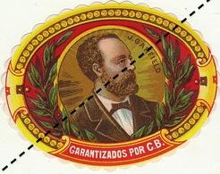 Fin 1800 étiquette Boite à Cigare AMIRAL GERVAIS - Etichette