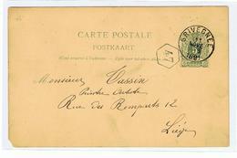 Mooie Briefkaart  Verstuurd Van Grivegnee Naar Luik In 1891 Betreft L'Eglise De Angleur - 1893-1907 Armoiries