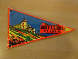 Fanion Touristique France MONT-AIGOUAL CEVENNES  (vintage Années 60) - (Vaantje - Wimpel - Pennant - Banderin) - Obj. 'Souvenir De'